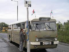 A 2008. évi VEKE-nosztalgiabusz Adyvárosban, Adyváros decentrum, Tihanyi Árpád út, Győr (forrás: VEKE)