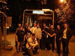 Az éjszakai járatok közlekedését több VEKE-tag is figyelemmel kísérte, Kálóczy tér, Győr (forrás: Markovits Tamás)