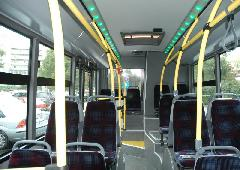 A busz hátsó traktusa belül, Széchenyi Egyetem, Győr (forrás: VEKE)