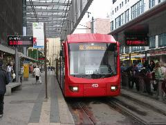 Az 522-es járat egy egykori vasútvonalon jut el Stollbergbe., Chemnitz (forrás: Müller Péter)