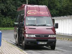 Kisebb forgalmú vonalakon teherautó alvázra szerelt mikrobusszal látják el a forgalmat., Chemnitz (forrás: Müller Péter)