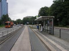 A belváros körüli Theaterstrassén árulkodik a múlt, itt 1985-ben szűnt meg a forgalom., Chemnitz (forrás: Müller Péter)