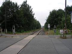 Az egykori főpályaudvarról induló vasútvonal belső szakaszán ma már csak teherforgalom van., Chemnitz (forrás: Müller Péter)