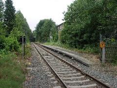 Megszűnt vasúti megálló a belső szakaszon., Chemnitz (forrás: Müller Péter)
