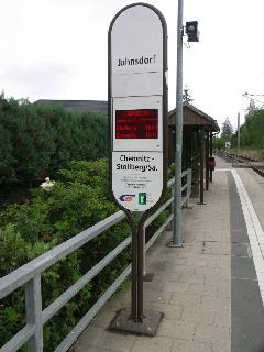Az egykori vasútvonal megállói is átépültek., Chemnitz (forrás: Müller Péter)