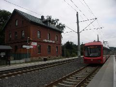 Neukirchen-Klaffenbach állomás, idáig van teherfoglalom., Chemnitz (forrás: Müller Péter)