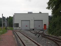 Stollberg, motorkocsi-karbantartó bázis. Stollberg és St. Egidien között RS1 típusú dízelmeghajtású motorvonat ingázik., Chemnitz (forrás: Müller Péter)
