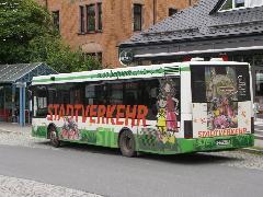 Stollberg, helyijárati buszvégállomás az állomás mellett., Chemnitz (forrás: Müller Péter)
