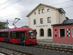 Stollberg, egykor vasútvonalnak épült, ma a városi villamos jár ki eddig., Chemnitz (forrás: Müller Péter)