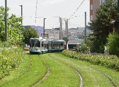 Grenoble Nantes mellett az első modern francia villamosvonalak egyike részben alacsonypadlós járművekkel., Grenoble (forrás: Vitézy Dávid)