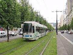 Saint-Étienne az egyetlen francia város, ahol nem szűnt meg a 19. században épült villamos., Saint-Étienne (forrás: Vitézy Dávid)