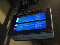 Sűrű a forgalom Hirschgarten megállóhelyen: a következő 4 percen belül 4 vonat érkezik az állomásra Laim felől., München (forrás: Feld István Márton)