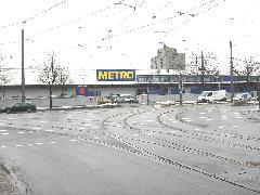Az üzemi kapcsolat a Parzivalplatzon csatlakozik a 23-as vonalhoz., München (forrás: Feld István Márton)