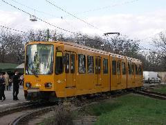 2010-es BKV-villamosnapon rendkívüli alkalommal TW 6000-es villamos közlekedett a farkasréti 59-es vonalán. (forrás: Müller Péter)
