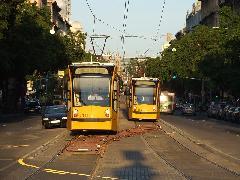Búcsúzik a kúszóváltó: vasárnap estig tartott a vágányzár a Nagykörúton., Jászai Mari tér, Budapest (forrás: Dr. Gábor Marcell)