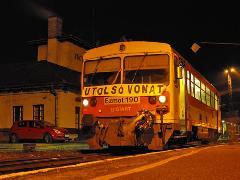 Az utolsó, bezárás előtti vonat a 142-es sz., Lajosmizse-Kecskemét vonalon - szerencsére nem a legutolsó. (forrás: Deák Bence - Indóház Online)