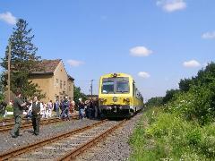 GYSEV vonat a 14-es Pápa-Csorna vasútvonalon - vajon júliustól a korábbinál is rosszabb menetrenddel? (forrás: Feld István Márton)