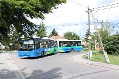 A 45-ös busz XVI. kerületi végállomásán, Georgina utca, Cinkota (forrás: Gégény András)