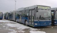 A második sorozatba tartozó Volvo 7700A típ. csuklós BKV autóbusz a Volvo Hungária Kft. telephelyén., XVII. Cinkotai út 34., Budapest (forrás: Friedl Ferenc)