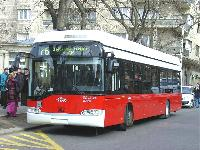 A 76-os vonalon már forgalomba állt hat darabot újabb 10 Solaris követi 2005 végén., Szent István park, Budapest (forrás: Babiczky Ákos)