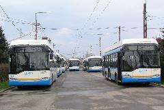 Ganz-Solaris trolibuszok a DKV Rt. telephelyén., DKV telephely, Salétrom utca, Debrecen (forrás: Hajtó Bálint)