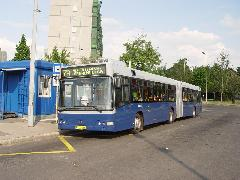Az átszervezéssel a jelenlegi 7A önálló szakaszán jelentősen javul majd a kiszolgálás., Albertfalva, Forgalmi utca, Budapest (forrás: Vitézy Dávid)