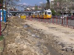 A külső Bartók Béla úton már megkezdődtek a munkálatok., Bartók Béla út, Budapest (forrás: Friedl Ferenc)