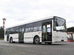 Az Alfa Busz Kft egyik B7RLE-Localo bemutatókocsija, Alfa Busz Kft telephelye, Ikarus gyártelep, Székesfehérvár (forrás: Hajtó Bálint)