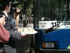 A 112-es autóbusz a Kálvin térig közlekedik, Kálvin tér, Budapest (forrás: Kemény Tamás)