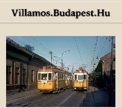 A villamos.budapest.hu legutóbbi, 2005. májusi nyitóoldala (forrás: villamos.budapest.hu; Tim Boric)