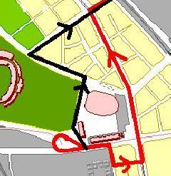 A 77-es trolibusz végállomási útvonalaának változásai, Budapest (forrás: Hubay Miklós)