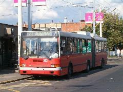 Ikarus 435T - Kiepe trolibusz a 77-esen Stadionok végállomásnál, Stadionok végálomás, Budapest (forrás: Vonnák Attila)