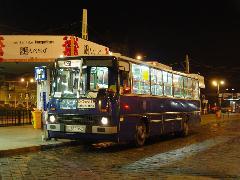 921-es éjszakai busz a próbaüzem éjjelén., Moszkva tér, Budapest (forrás: Vitézy Dávid)