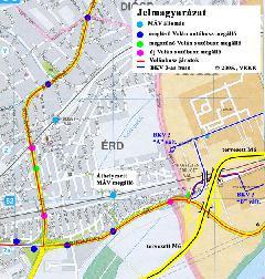 Érdliget déli része és a javasolt változtatások, Érd (forrás: Friedl Ferenc)