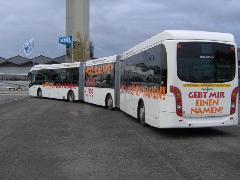 VanHool AGG300 duplacsuklós autóbusz hátulról, BusWorld 2005, Kortrijk (forrás: Friedl Ferenc)