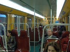 Brüsszeli metrókocsi belső tere, Brüsszel (forrás: Friedl Ferenc)