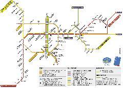 A brüsszeli metróhálózat sematikus térképe, Brüsszel (forrás: http://www.stib.irisnet.be/)