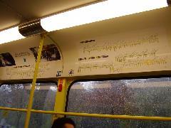 Sematikus vonalhálózati rajzok egy brüsszeli villamoskocsi belsejében, Brüsszel (forrás: Németh Attila)