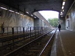 Rámpa a felszínre, Lemonnier állomás, Brüsszel (forrás: Friedl Ferenc)