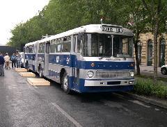Az egyetlen megmaradt fővárosi Ik 180-as a Szentendrei Múzeum tulajdona., Andrássy út, Budapest (forrás: Istvánfi Péter)