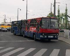 A BKV egyik felújított 280-asa Budapest legforgalmasabb vonalán, a 173-as gyorson, Gellért tér, Budapest (forrás: Istvánfi Péter)