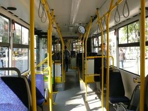 A busz utastere. (Forrás: Kemsei Zoltán)