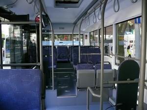 A busz kulturált, visszafogott utastere. (Forrás: Kemsei Zoltán)
