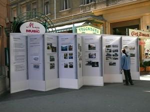 A cég plakátokon mutatta be, hogyan készült az S91-es. (Forrás: Kemsei Zoltán)