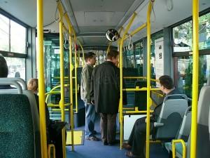 Az utastérben a cégre jellemző zöld szín dominál. (Forrás: Kemsei Zoltán)