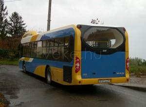 A busz hátulról (fotó: Major András)
