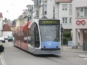 Söflingen, 2005-ben még a Donauhalle volt a villamosok végállomása (fotó: Müller Péter)