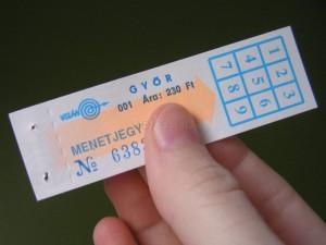 Győri buszjegy