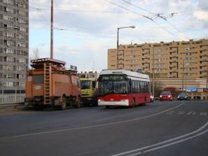 6. ábra: az utolsó buszsávon kívüli trolibusz - az önjáró 74A