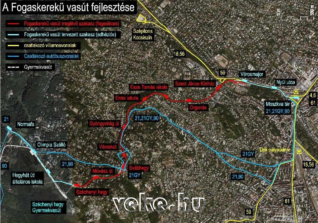 Tervezett meghosszabbítás a Moszkva térig